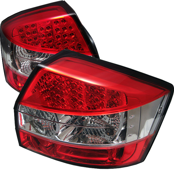 Audi A4 02-05 LED Tail Lights - Red Clear