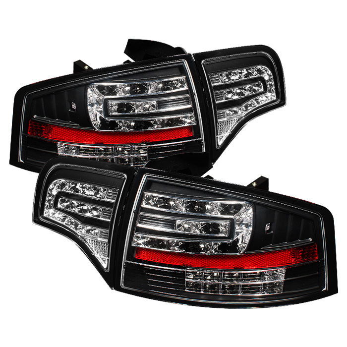 Audi A4 4Dr 06-08 LED Tail Lights - Black