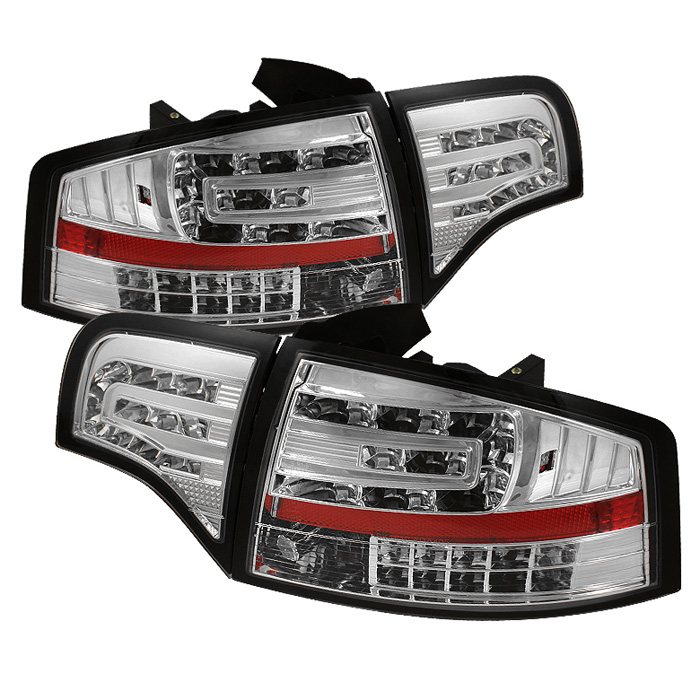 Audi A4 4Dr 06-08 LED Tail Lights - Chrome