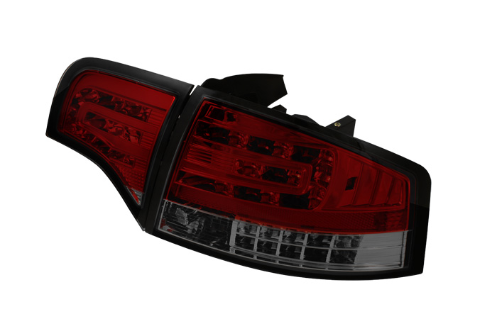 Audi A4 4Dr 06-08 LED Tail Lights - Red Smoke