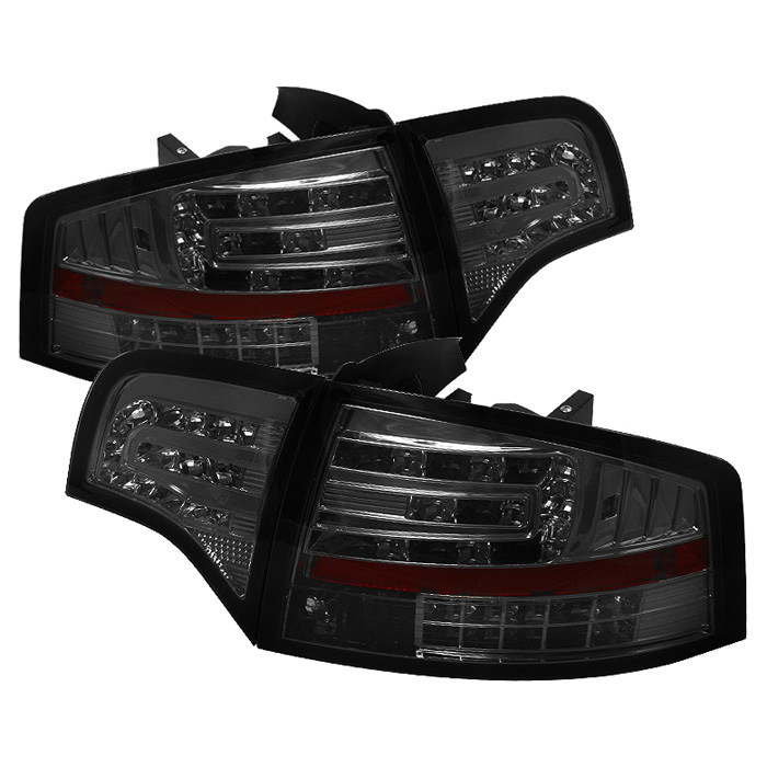Audi A4 4Dr 06-08 LED Tail Lights - Smoke