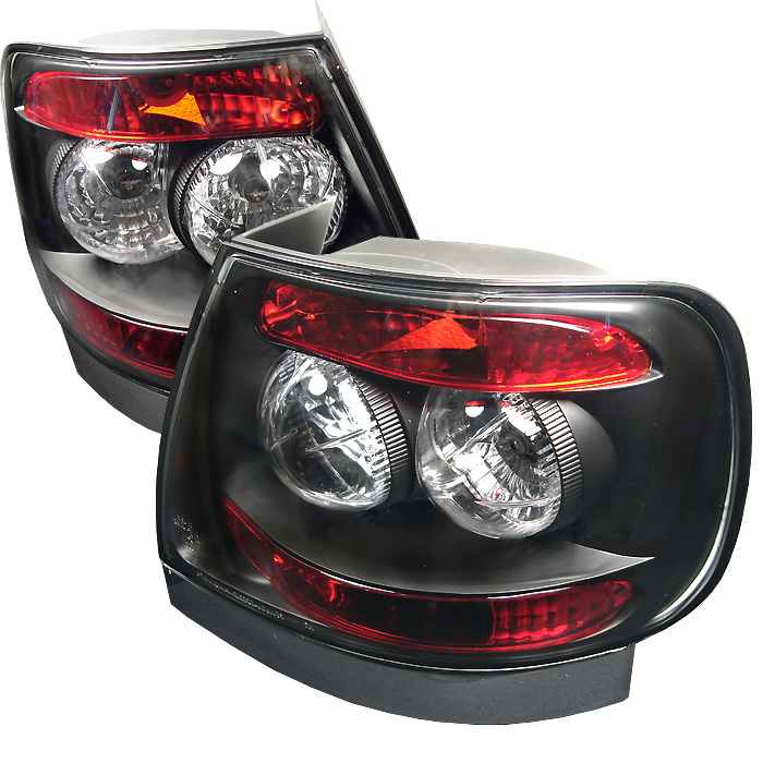 Audi A4 96-01 Euro Style Tail Lights - Black