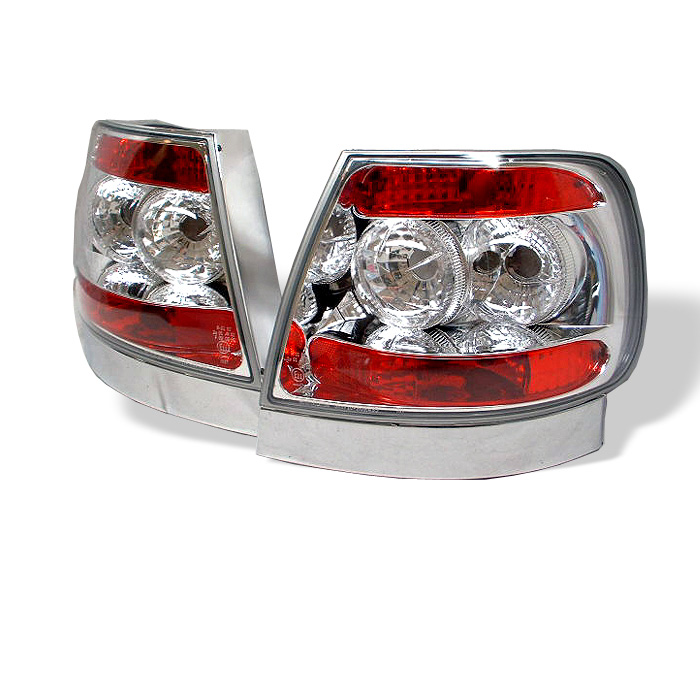 Audi A4 96-01 Euro Style Tail Lights - Chrome