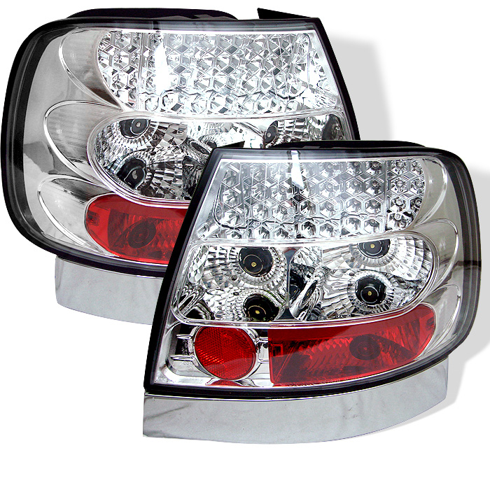 Audi A4 96-01 LED Tail Lights - Chrome