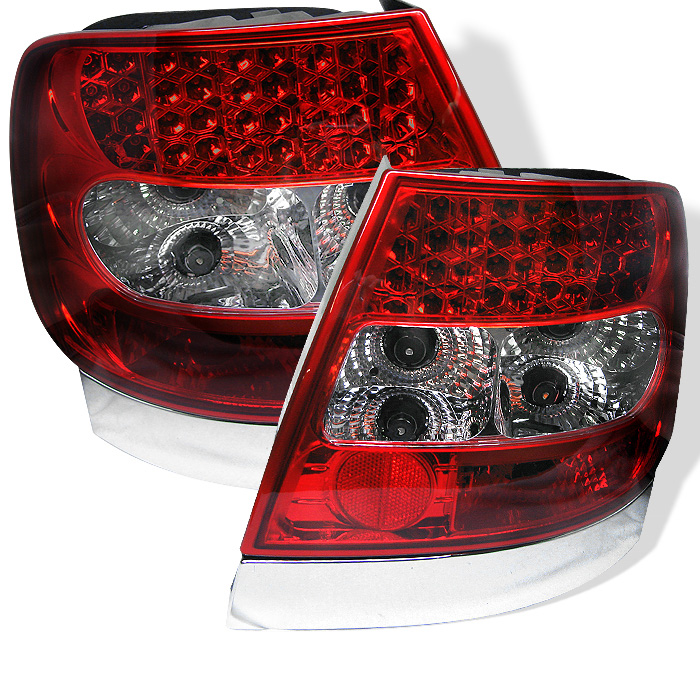 Audi A4 96-01 LED Tail Lights - Red Clear