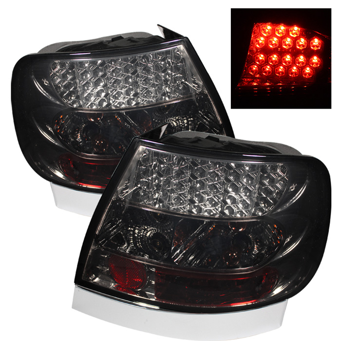 Audi A4 96-01 LED Tail Lights - Smoke