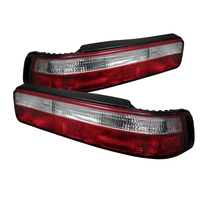 Acura Integra 90-93 2Dr Euro Style Tail Lights - Red Clear