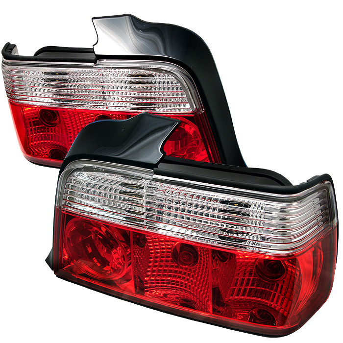 BMW E36 3-Series 92-98 4Dr Crystal Tail Lights - Red Clear