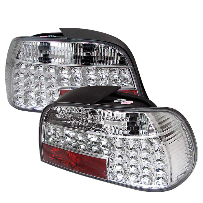BMW E38 7-Series 95-01 LED Tail Lights - Chrome
