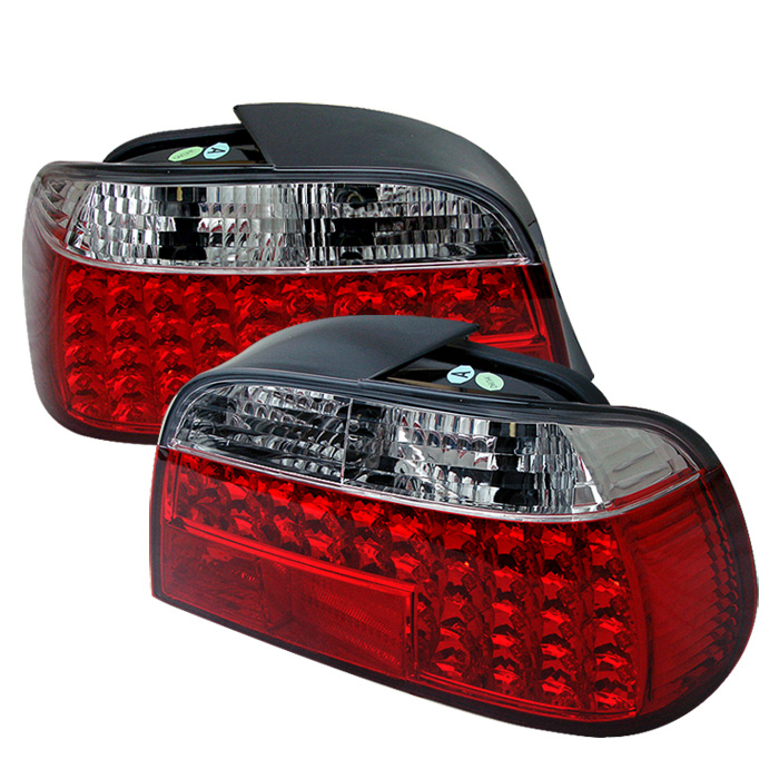BMW E38 7-Series 95-01 LED Tail Lights - Red Clear