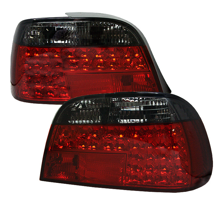 BMW E38 7-Series 95-01 LED Tail Lights - Red Smoke
