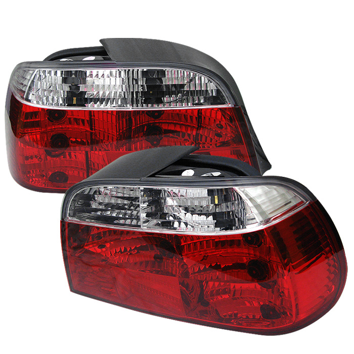 BMW E38 7-Series 95-01 Crystal Tail Lights - Red Clear
