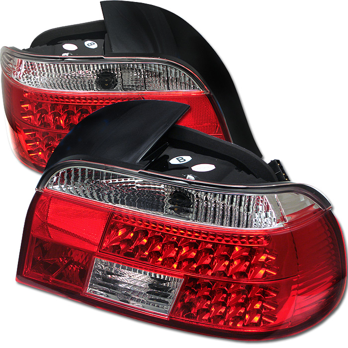 BMW E39 5-Series 97-00 LED Tail Lights - Red Clear