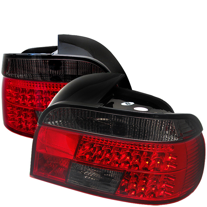 BMW E39 5-Series 97-00 LED Tail Lights - Red Smoke