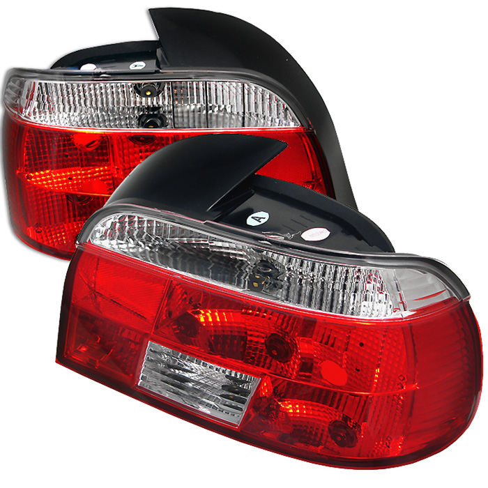 BMW E39 5-Series 97-00 Crystal Tail Lights - Red Clear