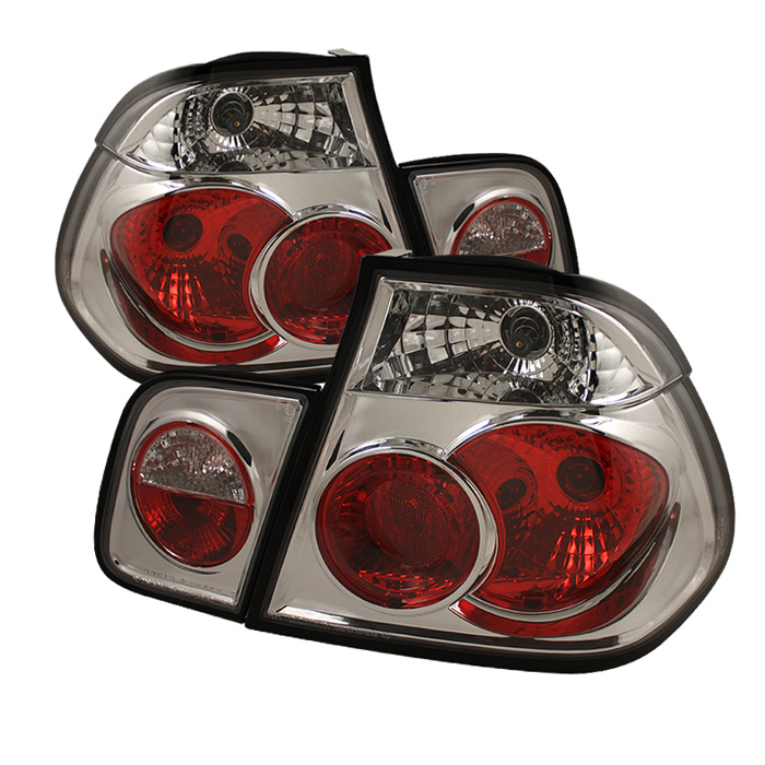 BMW E46 3-Series 99-01 4Dr Euro Style Tail Lights- Chrome