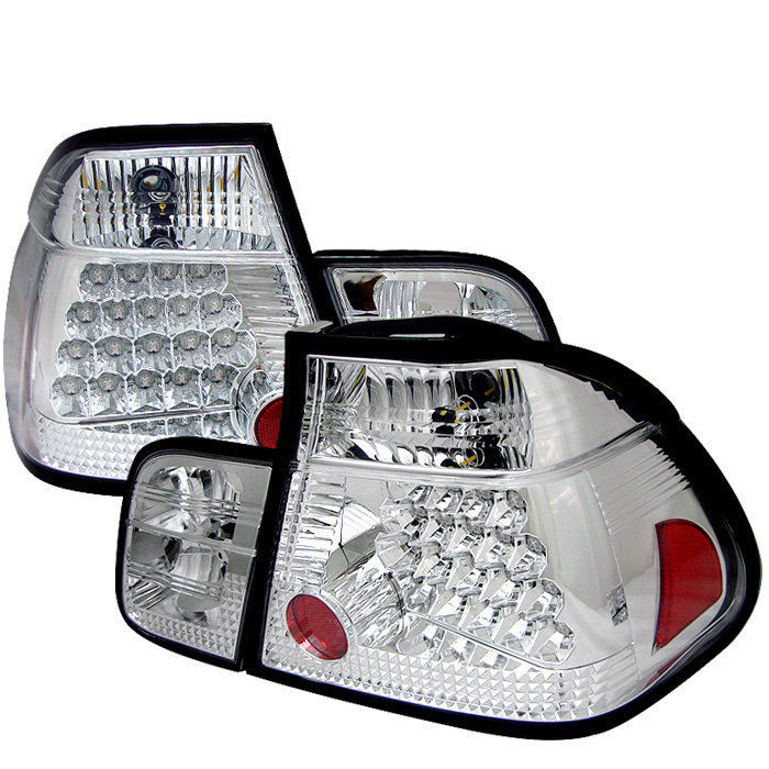 BMW E46 3-Series 99-01 4Dr LED Tail Lights - Chrome