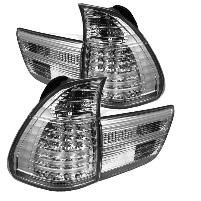 BMW E53 X5 00-06 4PCS LED Tail Lights - Chrome