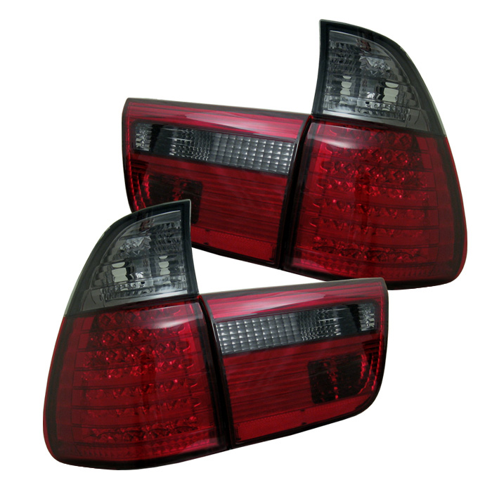 BMW E53 X5 00-06 4PCS LED Tail Lights - Red Smoke