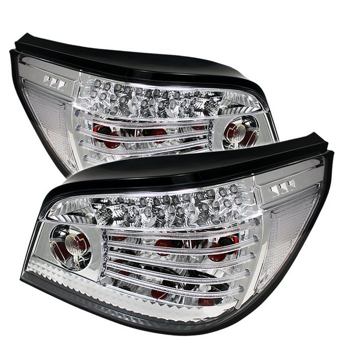 BMW E60 5-Series 04-07 LED Tail Lights - Chrome