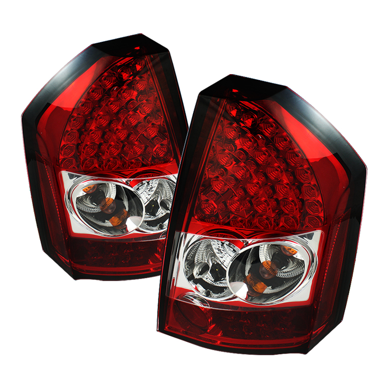 Chrysler 300C 08-10 LED Tail Lights - Red Clear