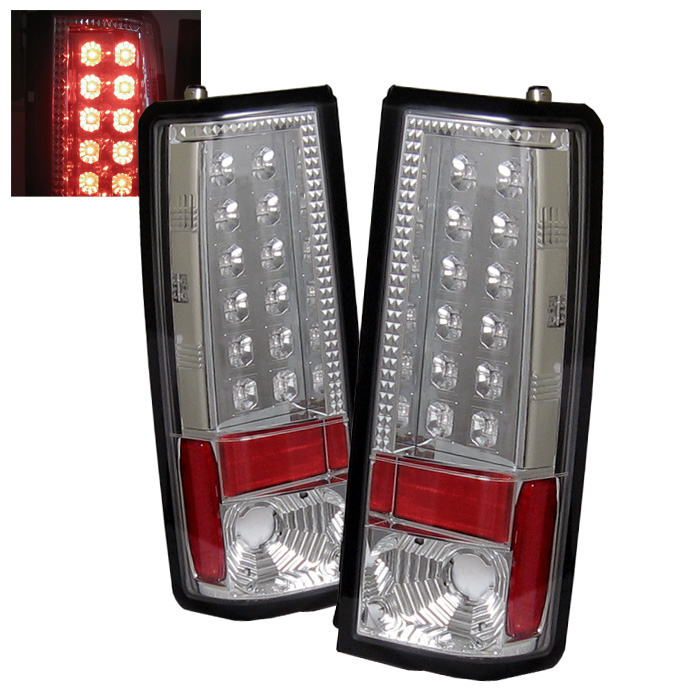Chevy Astro / Safari 85-05 LED Tail Lights - Chrome