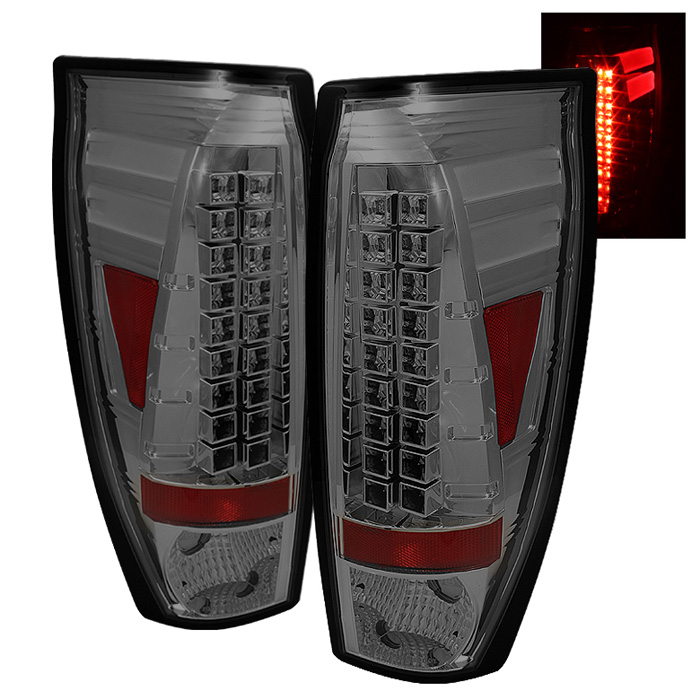 Chevy Avalanche 02-06 LED Tail Lights - Smoke