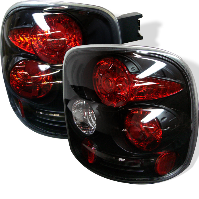Chevy Silverado Stepside 99-04 Euro Style Tail Lights - Black