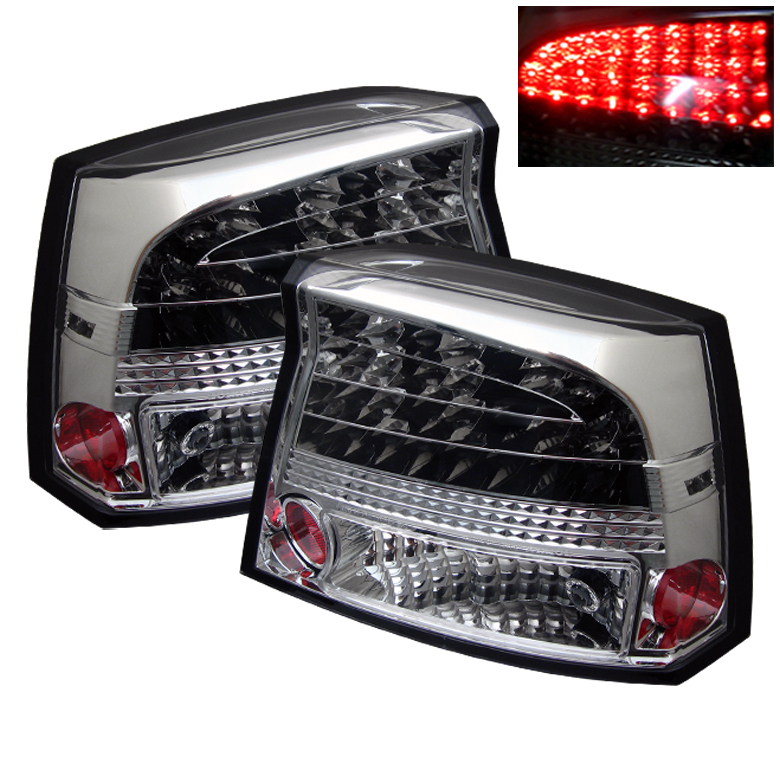 Dodge Charger 06-08 LED Tail Lights - Chrome