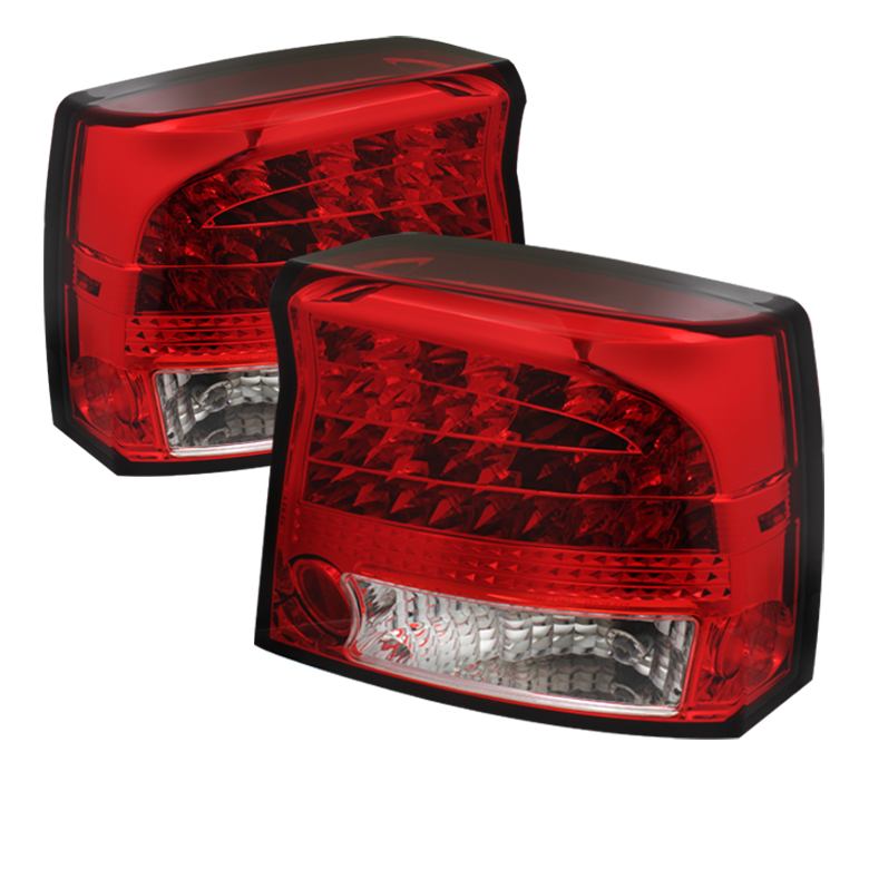 Dodge Charger 09-10 LED Tail Lights - Red Clear