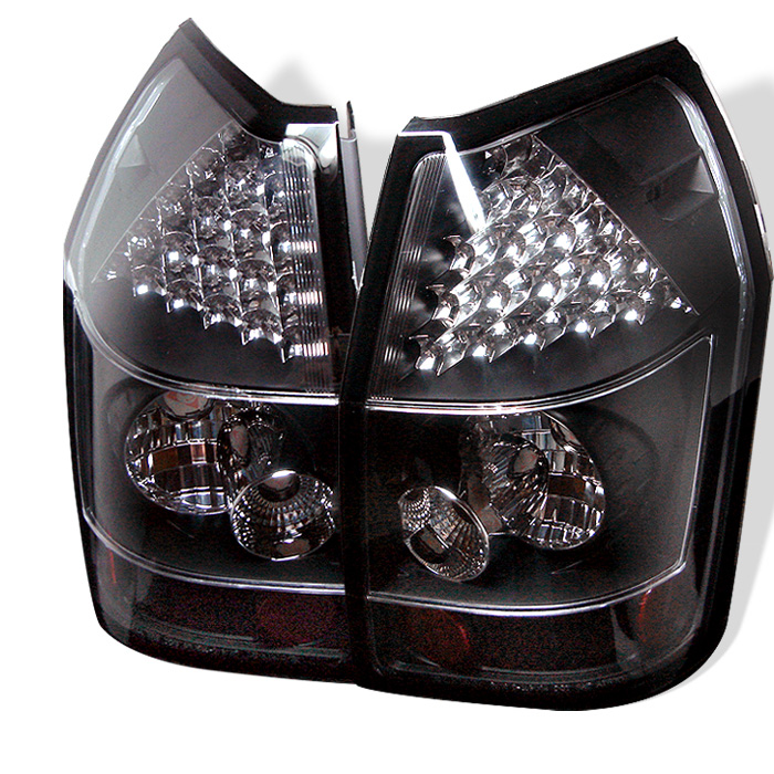 Dodge Magnum 05-08 LED Tail Lights - Black