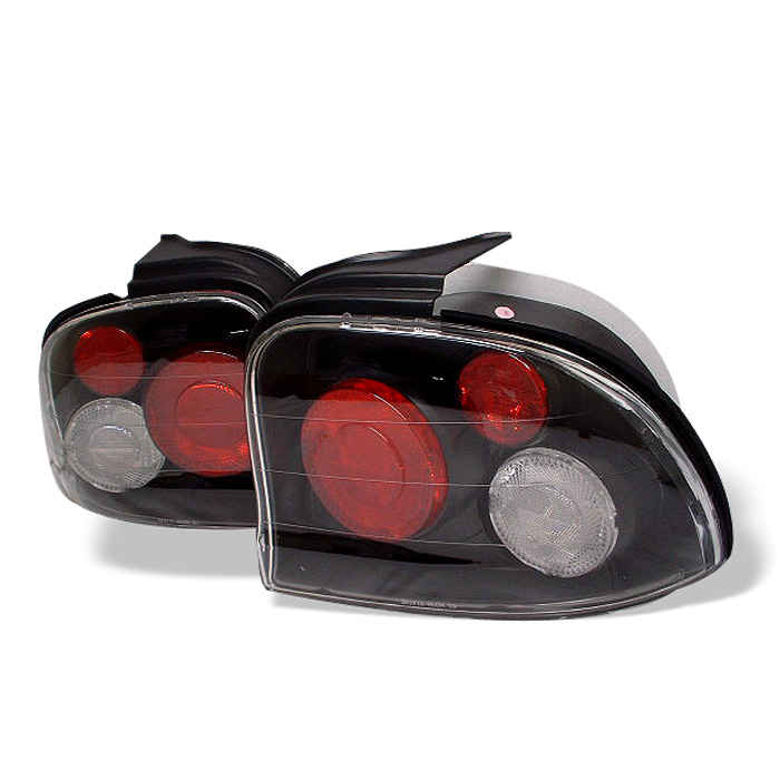 Dodge Neon 95-99 Euro Style Tail Lights - Black