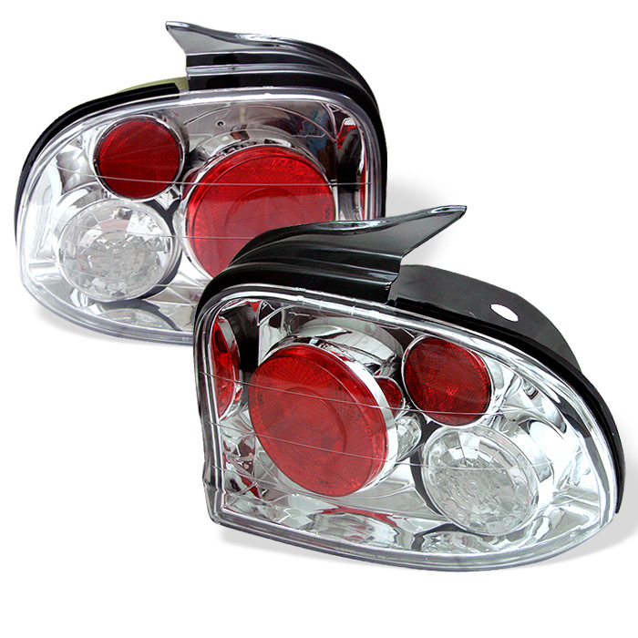 Dodge Neon 95-99 Euro Style Tail Lights - Chrome