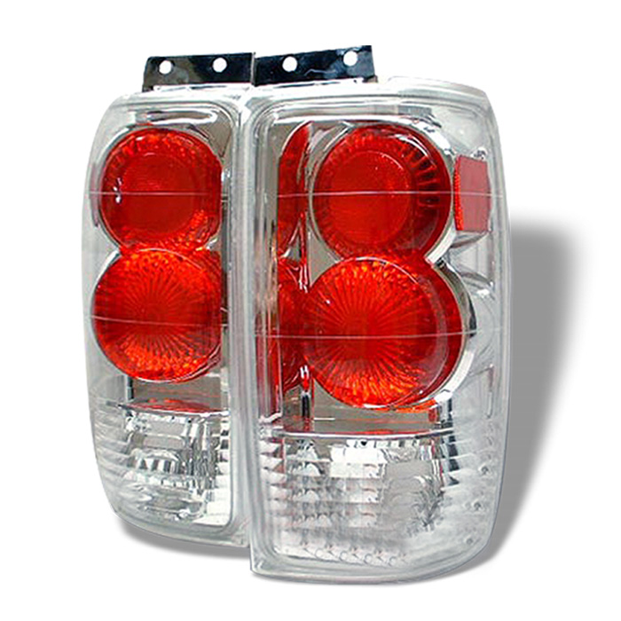 Ford Expedition 97-02 Euro Style Tail Lights - Chrome