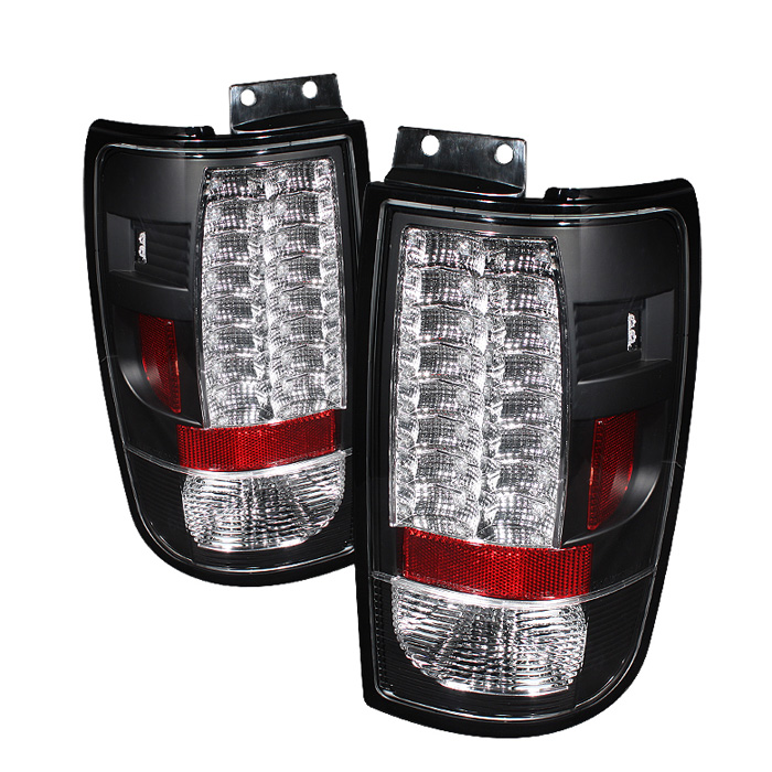 Ford Expedition 97-02 Version 2 LED Tail Lights - Black