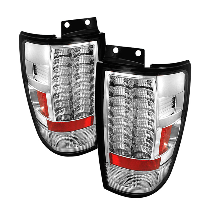 Ford Expedition 97-02 Version 2 LED Tail Lights - Chrome