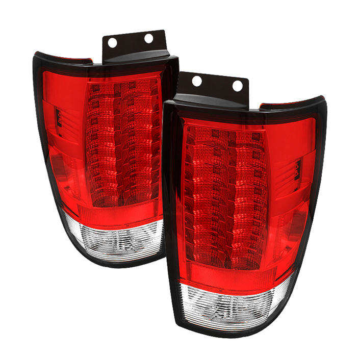 Ford Expedition 97-02 Version 2 LED Tail Lights - Red Clear