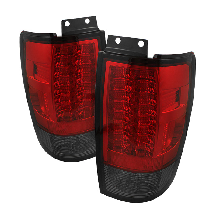 Ford Expedition 97-02 Version 2 LED Tail Lights - Red Smoke