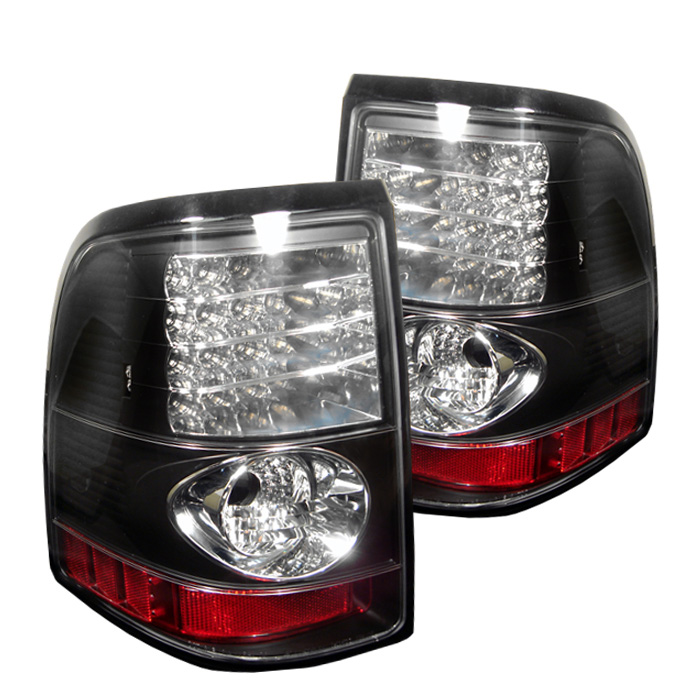 Ford Explorer 4Dr (Except Sport Trac) 02-05 LED Tail Lights - Bl