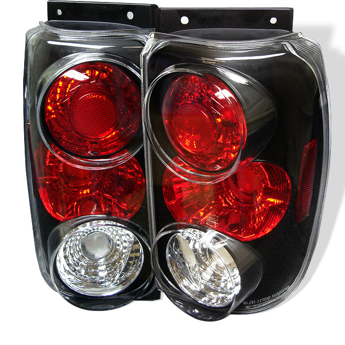 Ford Explorer 95-97 Euro Style Tail Lights - Black