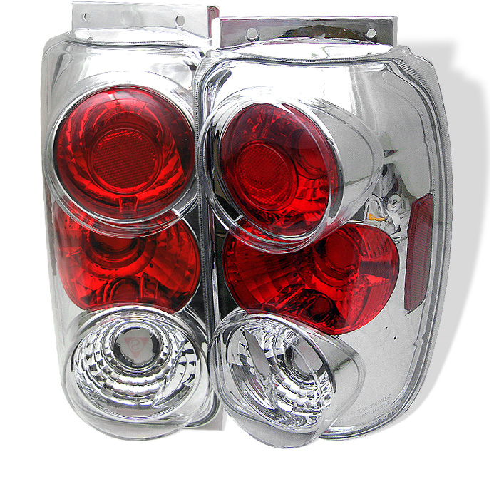 Ford Explorer 95-97 Euro Style Tail Lights - Chrome