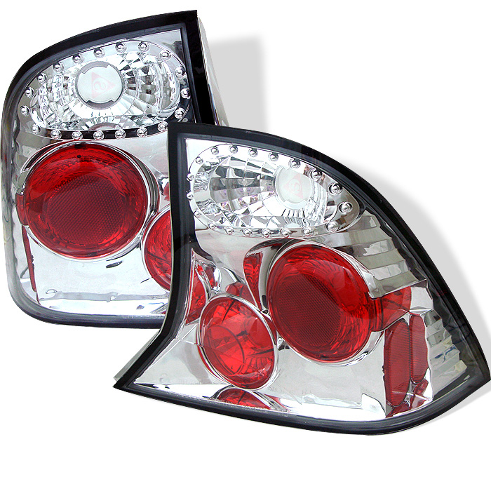 Ford Focus 00-04 4Dr Euro Style Tail Lights - Chrome