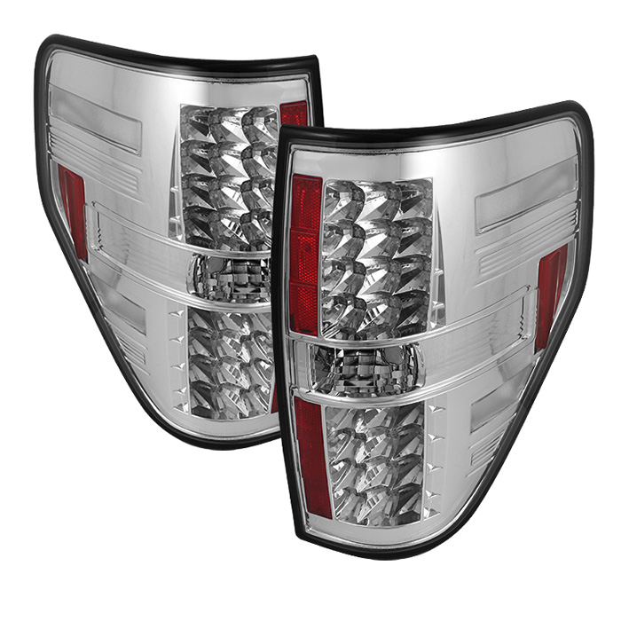 Ford F150 Styleside 09-12 LED Tail Lights - Chrome