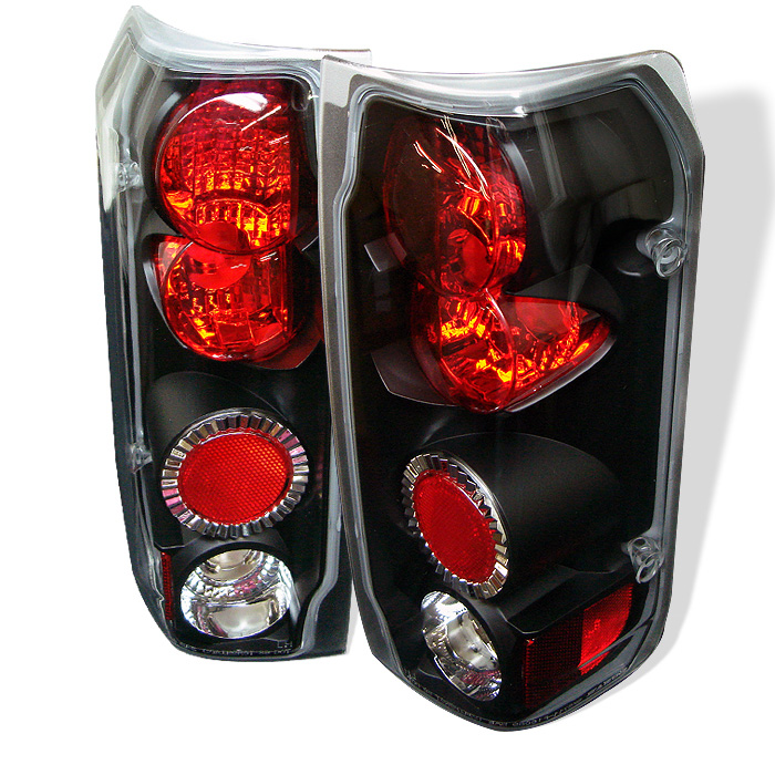 Ford F150 87-96 / Ford Bronco 88-96 Euro Style Tail Lights - Bla