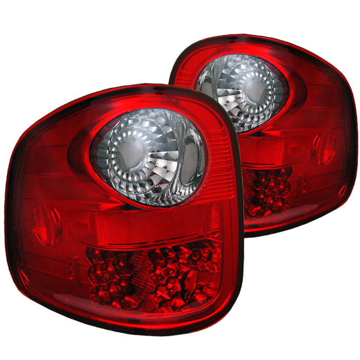 Ford F150 Flareside 97-03 LED Tail Lights - Red Smoke