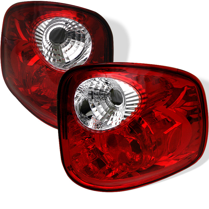 Ford F150 Flareside 97-03 Euro Style Tail Lights - All Red