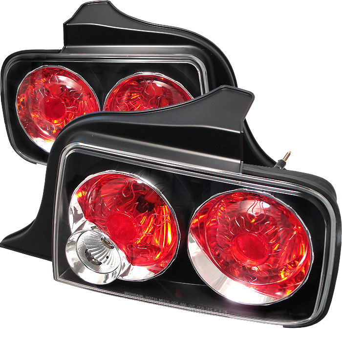 Ford Mustang 05-09 Euro Style Tail Lights - Black
