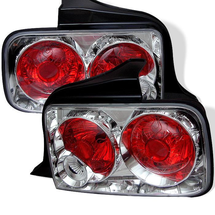 Ford Mustang 05-09 Euro Style Tail Lights - Chrome