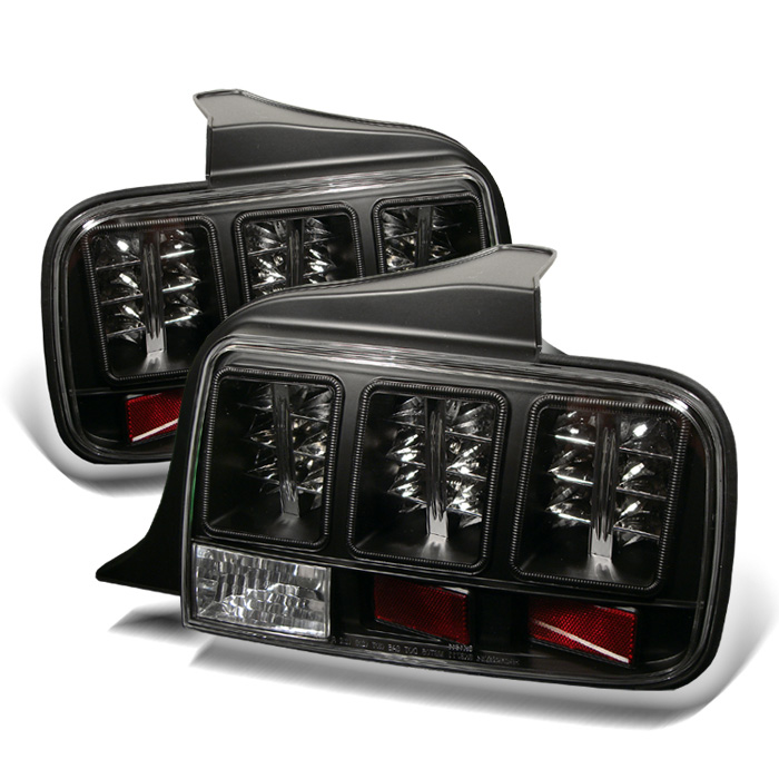 Ford Mustang 05-09 LED Tail Lights - Black