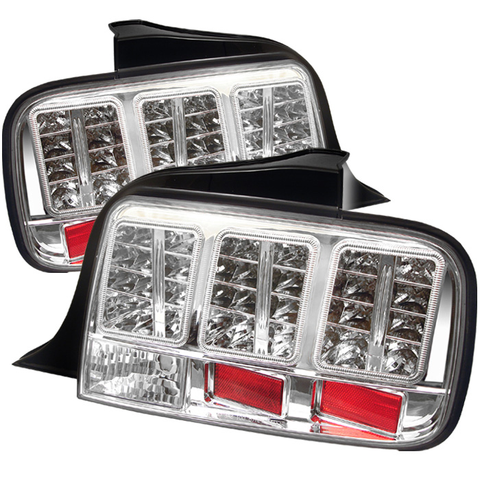 Ford Mustang 05-09 LED Tail Lights - Chrome